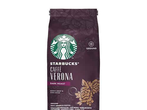 Starbucks Caffe Verona ground dark coffe