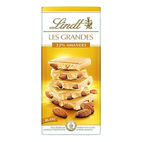 Lindt les grandes white chocolate with almonds