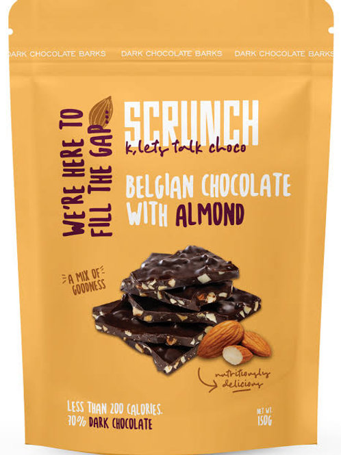 Scrunch belgian chocolate with almond