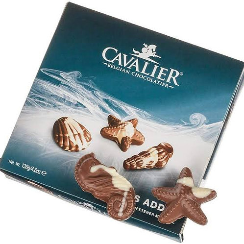 Cavalier sea shells milk chocolate with no added sugar