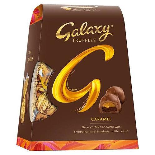 Galaxy milk chocolate with caramel truffles
