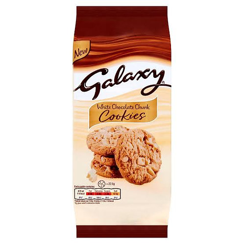 Galaxy white chocolate cookies