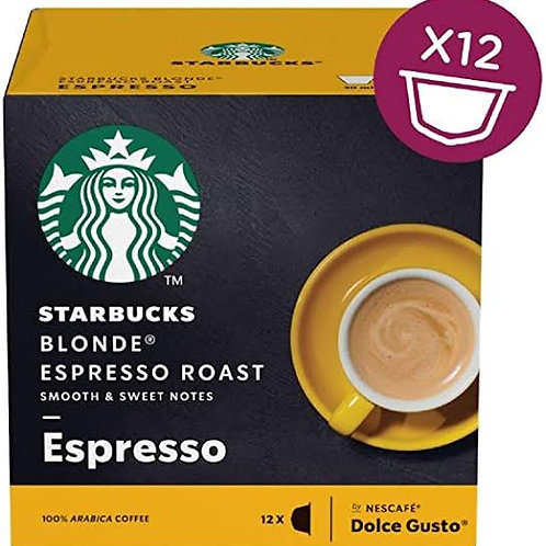 Starbucks Blond Espresso roast capsules dolce gusto