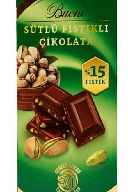 PISTACHIO MILK CHOCOLATE WITH PISTACHIO 80 G