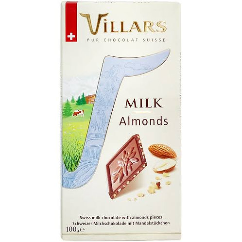 Vilars milk chocolate with almonds 100 g