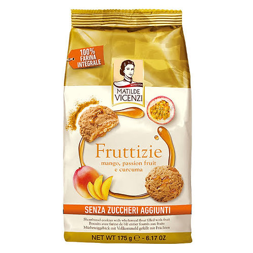 Cookies Matilde Vicenzi Fruttizie mango, passion fruit and turmeric 175gr