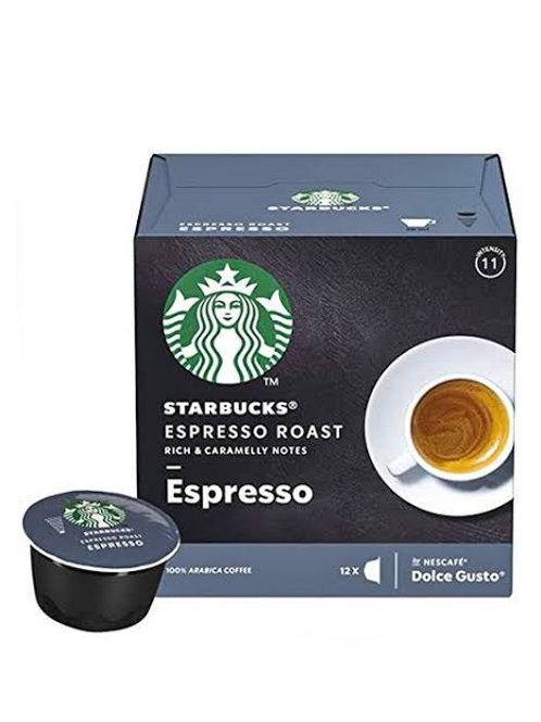 Starbucks Espresso roast capsules dolce gusto