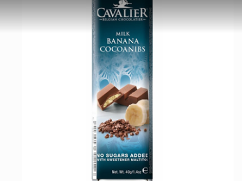 Cavalier milk chocolate with banana