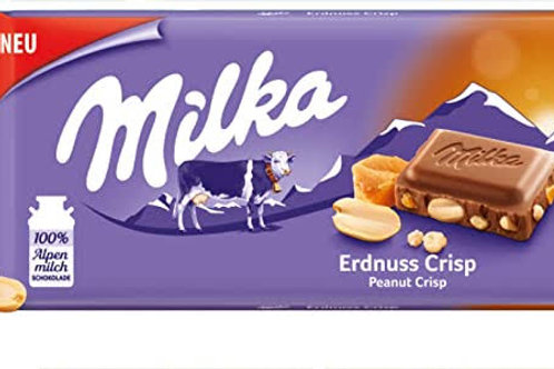 Milka peanut crisp bar