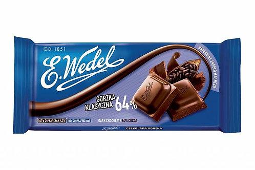 E. Wedel 64% dark chocolate