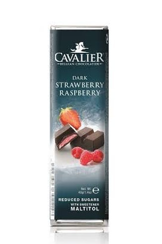 Cavalier dark chocolate raspberry & strawberry sugar free
