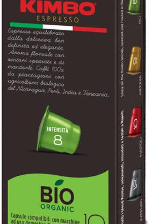 Kimbo espresso bio organic capsules