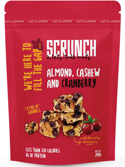 Scrunch cashew , almond and cranberry