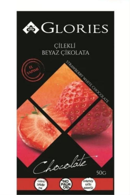 Glories Strawberry White Chocolate 50 g