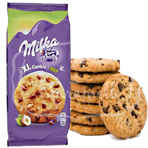 Milka hazelnut chocolate cookies