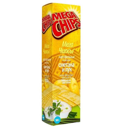 Mega chips sour cream & onion