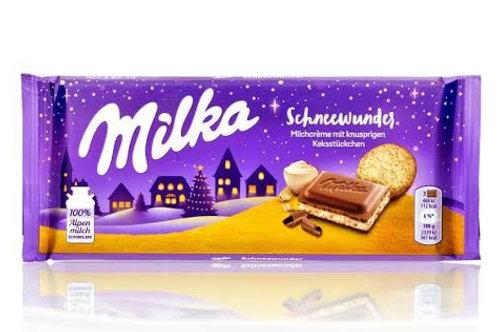 Milka Schneewunder milk chocolate with milk cream and butter cookies