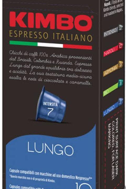 Kimbo Lungo 100% arabica capsules