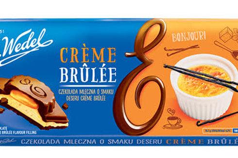 E. Wedel creme brulee dark chocolate