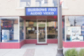 Burrows Pro Audio storefront 120 West Main, Weatherford Oklahoma