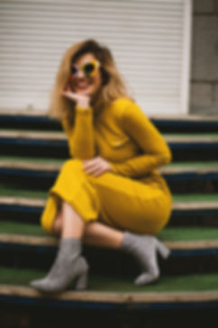 women-s-yellow-long-sleeved-dress-105569