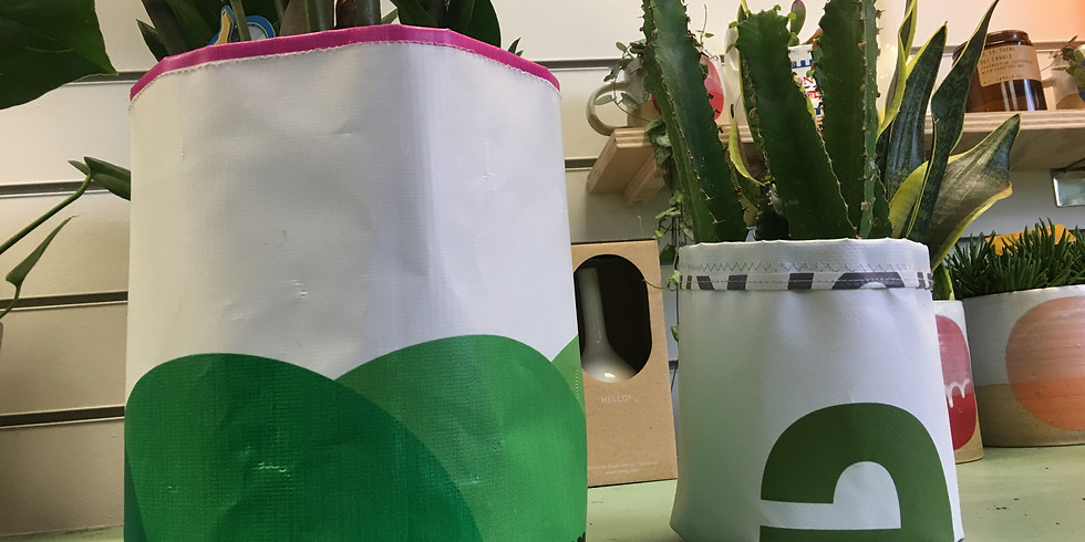 Turning vinyl banners into planters