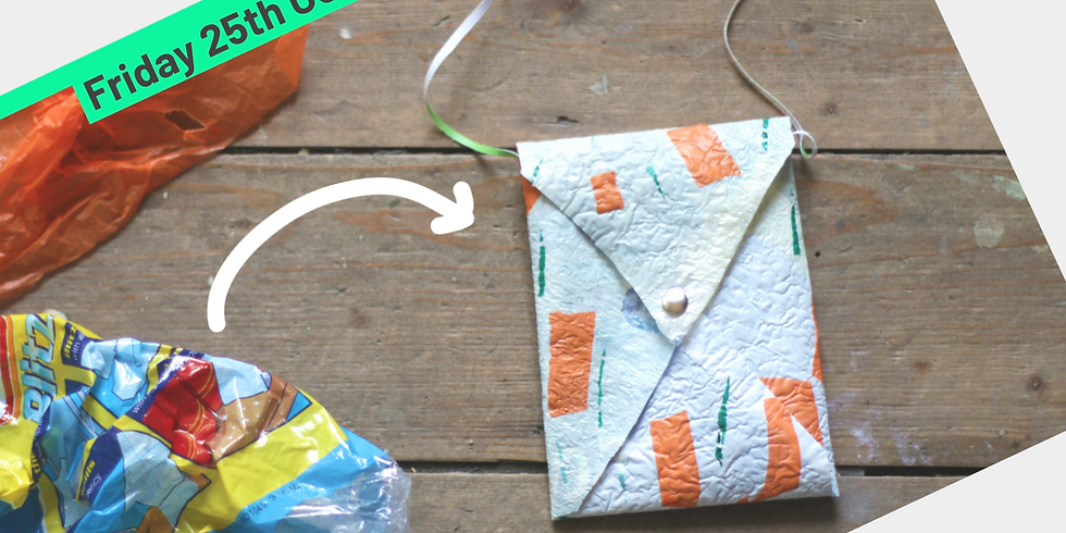 Turn your plastic waste into handy pouch.