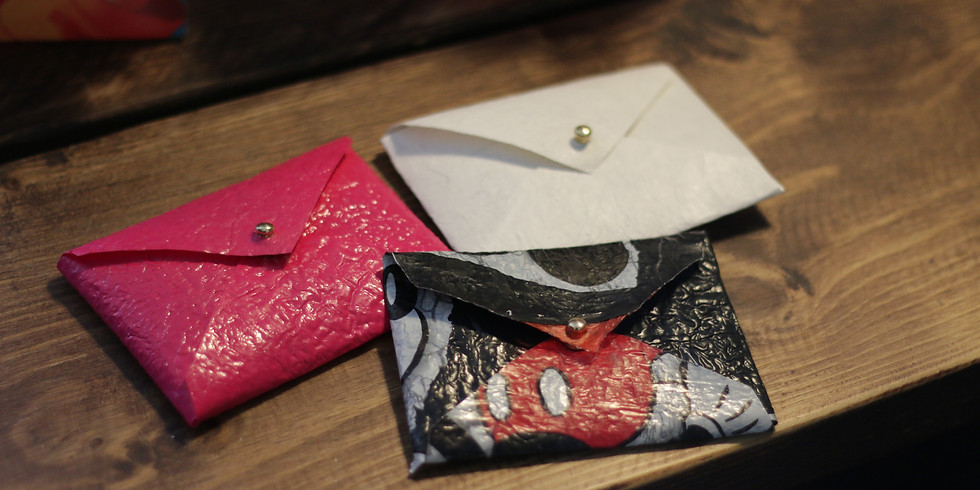 Turn plastic waste into wallets