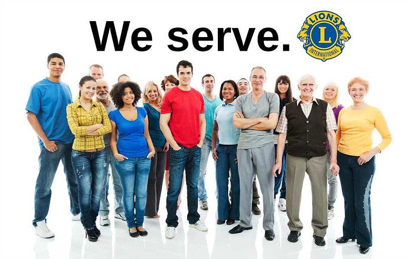 "Lions Members ""We Serve"""