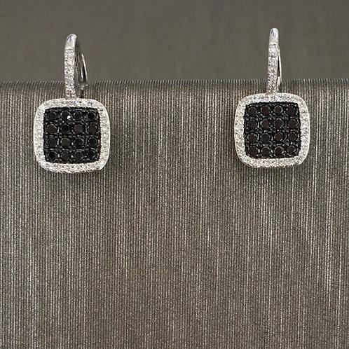 Black and White Diamond Square Drops