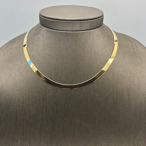 Herringbone 14k gold chain