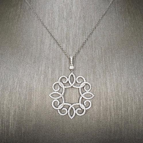 Spiral Diamond Pendant