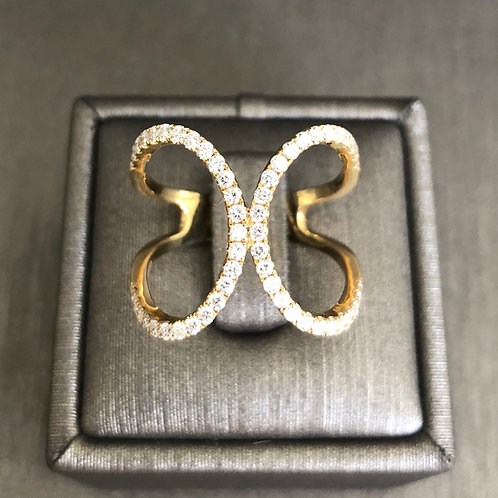 Double C Diamond Ring