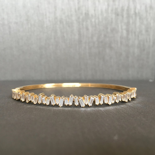 RWS Yellow Gold Baguette Diamond Bracelet