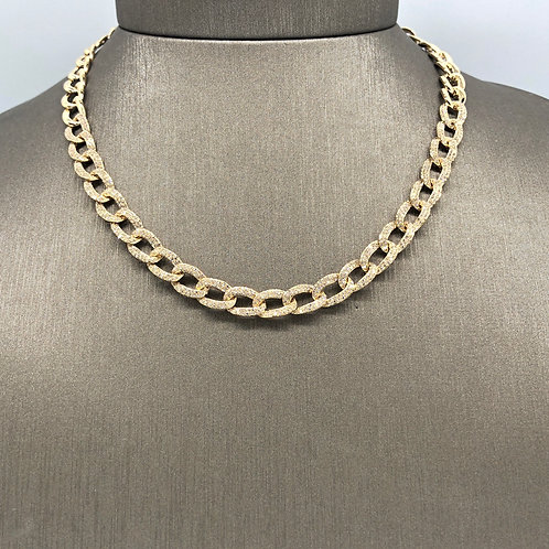 Thick Diamond Chain Choker