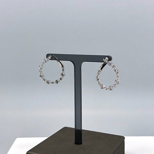 Alternating Diamond Spiral Earrings