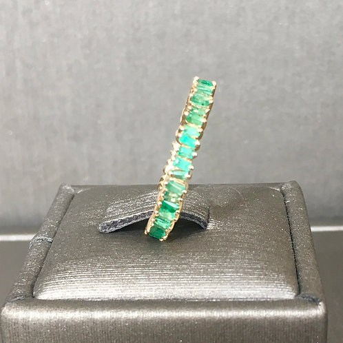 Baguette Band with Emeralds