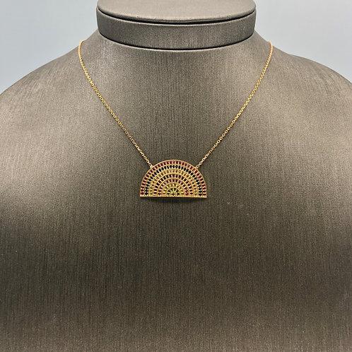 Sapphire Rainbow Necklace