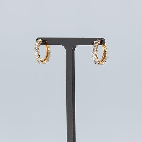 Baguette Diamond Small Hoops