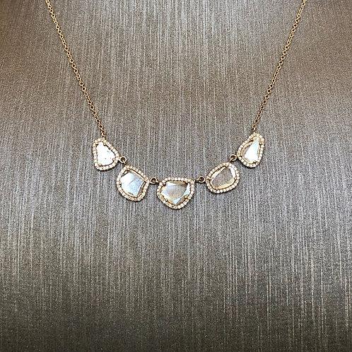 Multi Diamond Slice Necklace
