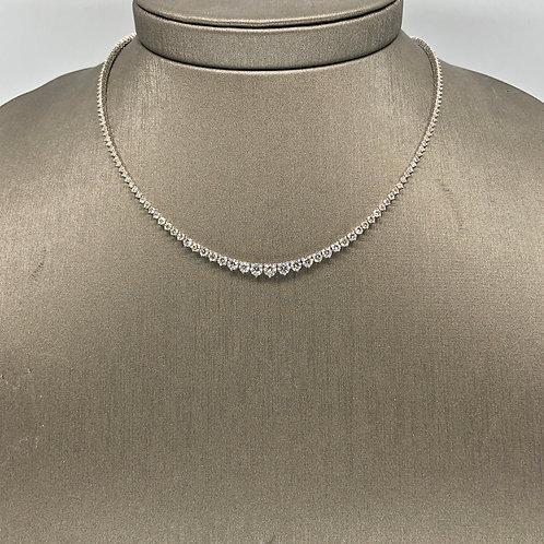 Diamond Heart Tennis Necklace