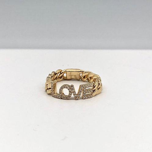 Love Diamond Link Ring