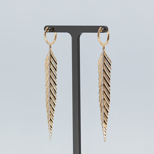Feather Gold and Diamond Drops