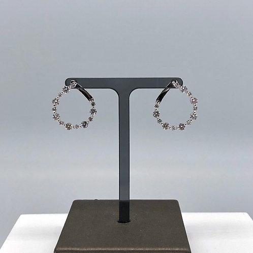 Alternating Diamond Spiral Earrings