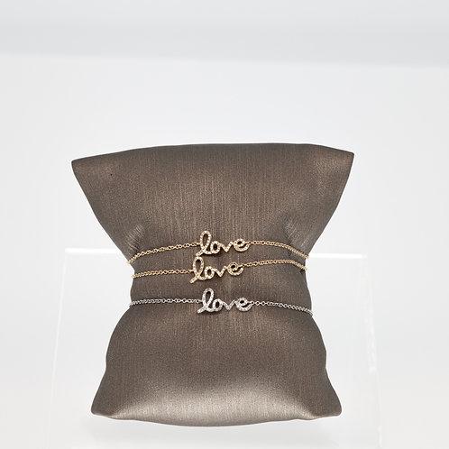 Delicate Love Chain Bracelet