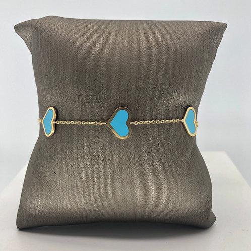 French Heart Charm Bracelet