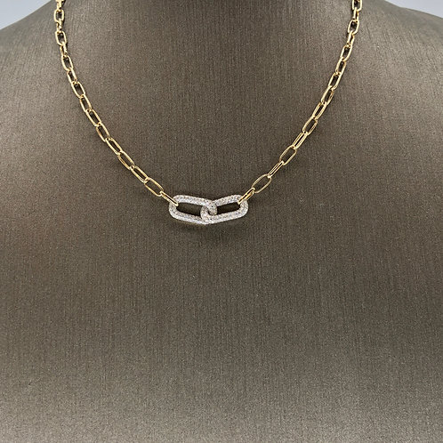 Diamond Links on Gold Chain