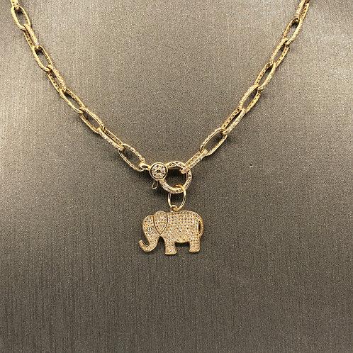 Diamond Elephant Charm