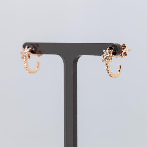Diamond Star Cuff Earring