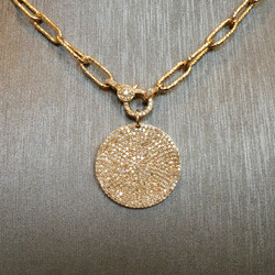 Pave Diamond Circle on Chain